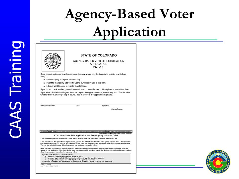 Agency-Based Voter Application