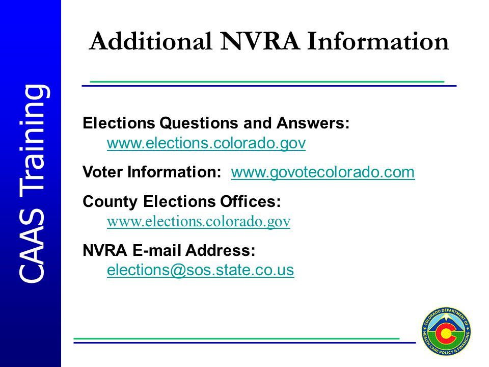 Additional NVRA Information