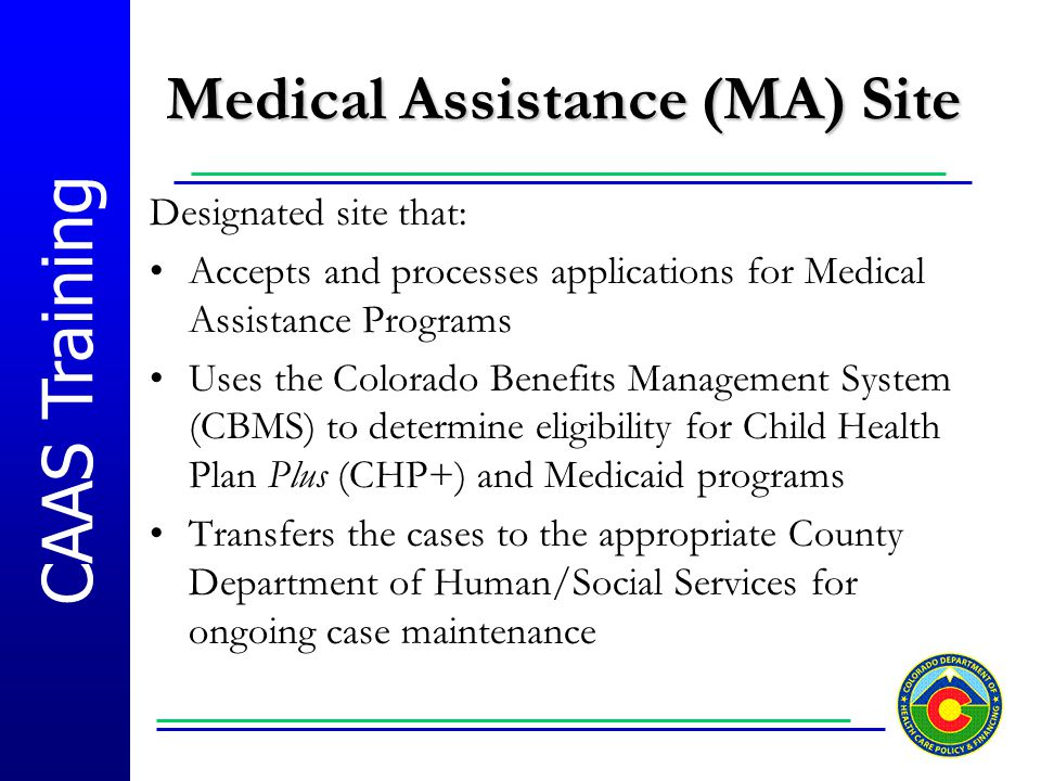 Medical Assistance (MA) Site