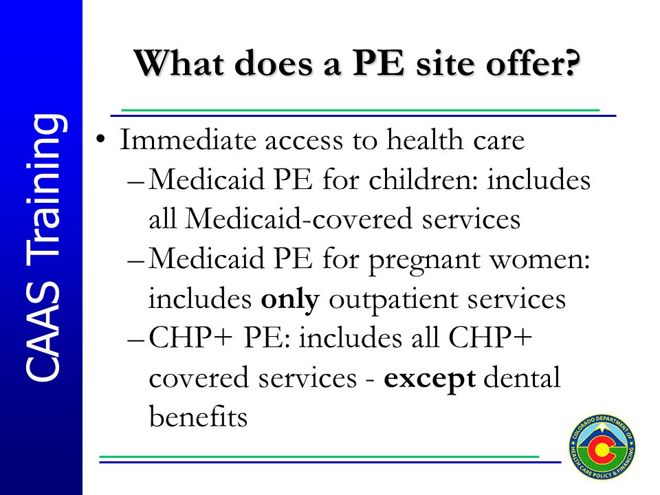 What does a PE site offer