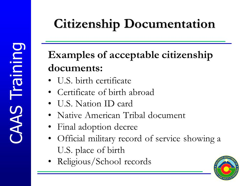 Citizenship Documentation