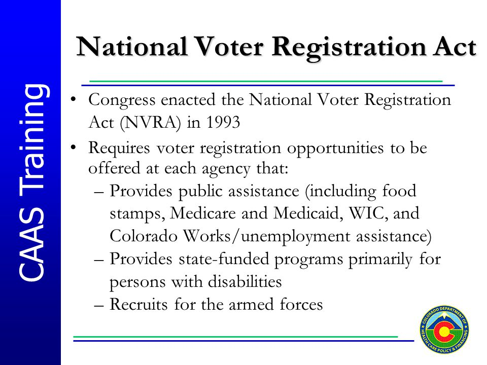 National Voter Registration Act