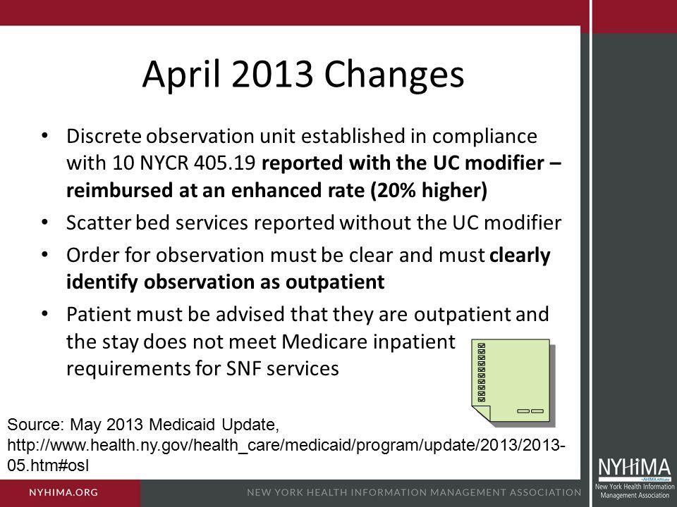 April 2013 Changes