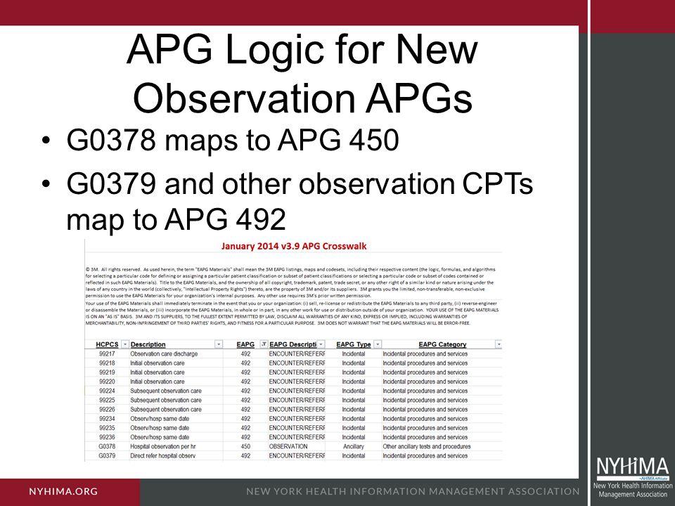 APG Logic for New Observation APGs