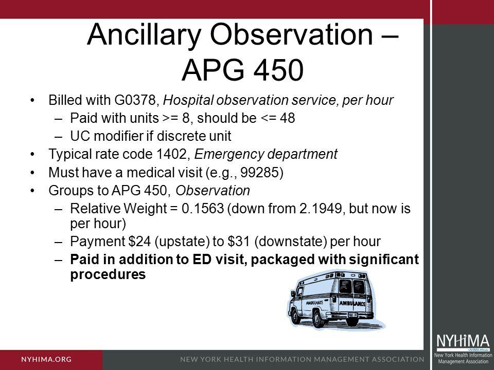 Ancillary Observation – APG 450