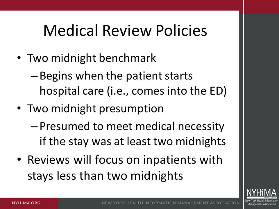 Medical Review Policies