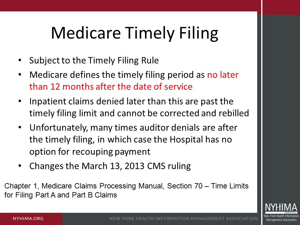 Medicare Timely Filing