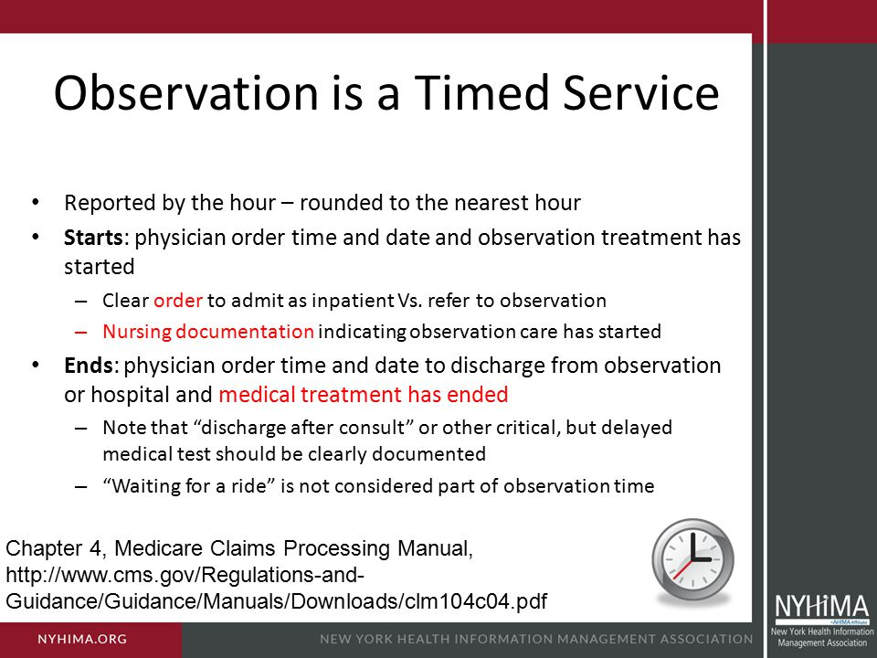 Observation is a Timed Service