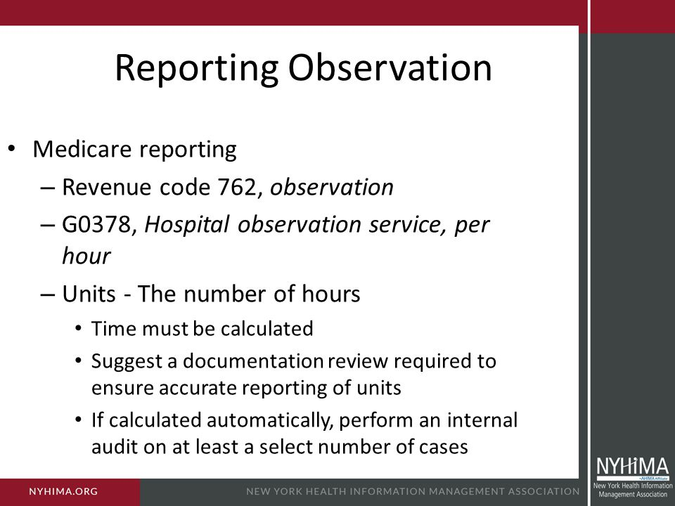 Reporting Observation