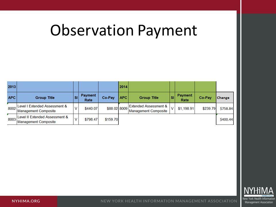 Observation Payment