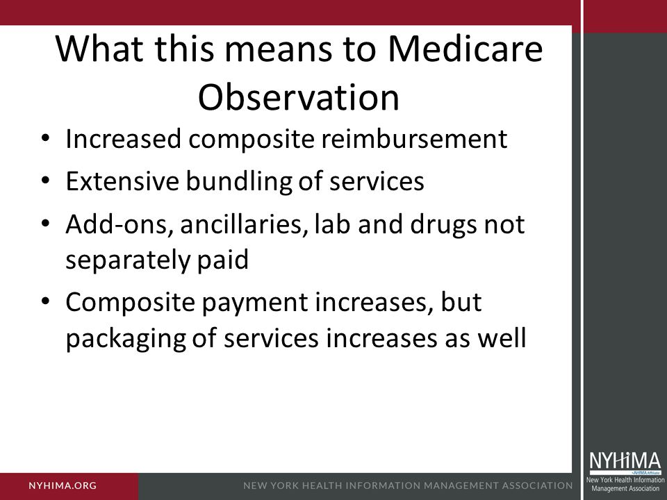 What this means to Medicare Observation