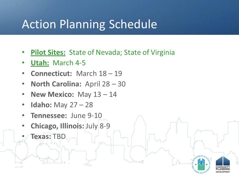 Action Planning Schedule