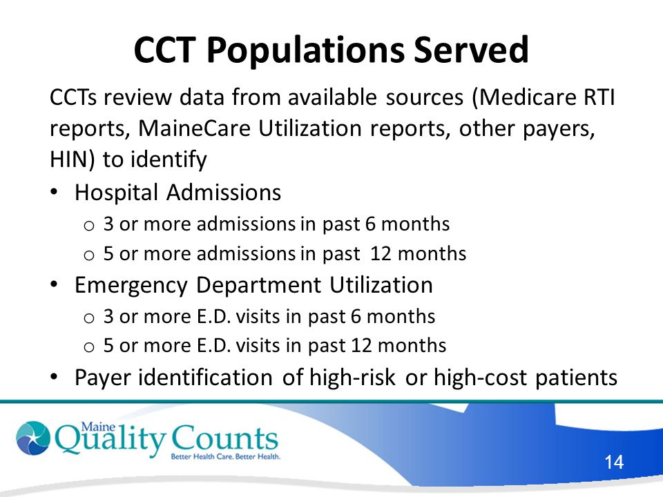 CCT Populations Served