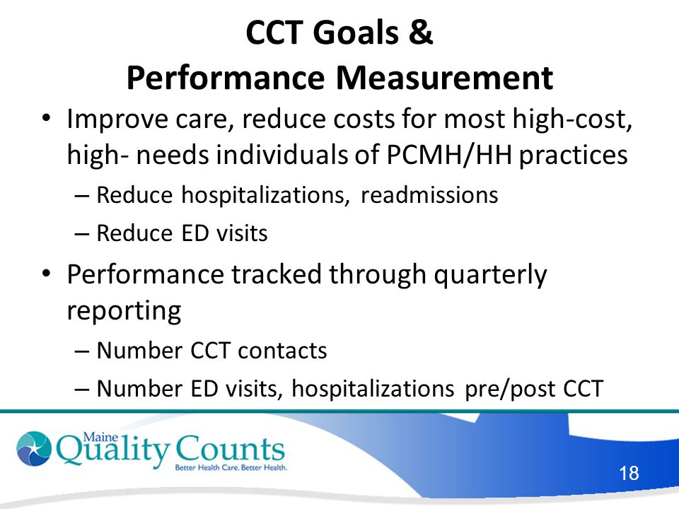 CCT Goals & Performance Measurement