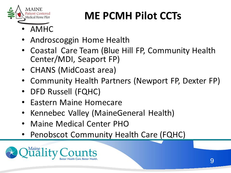 ME PCMH Pilot CCTs AMHC Androscoggin Home Health