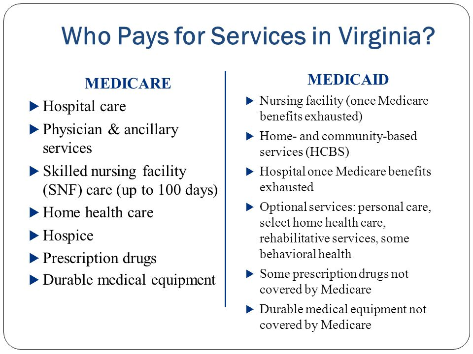 Who Pays for Services in Virginia