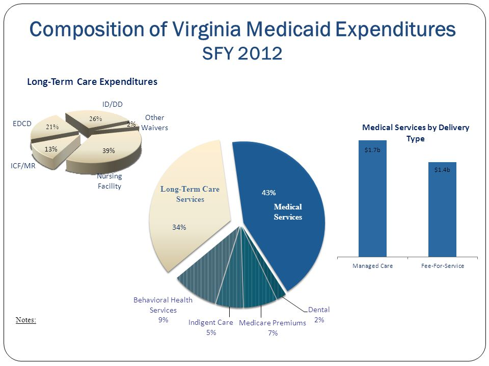 Composition of Virginia Medicaid Expenditures SFY 2012