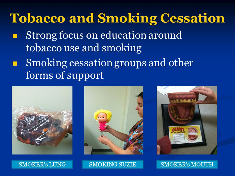 Tobacco and Smoking Cessation