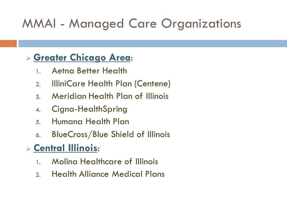 MMAI - Managed Care Organizations