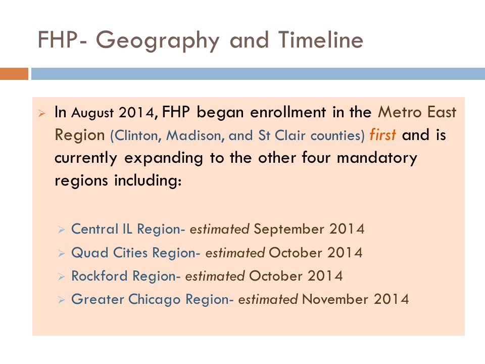 FHP- Geography and Timeline