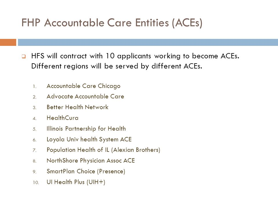 FHP Accountable Care Entities (ACEs)