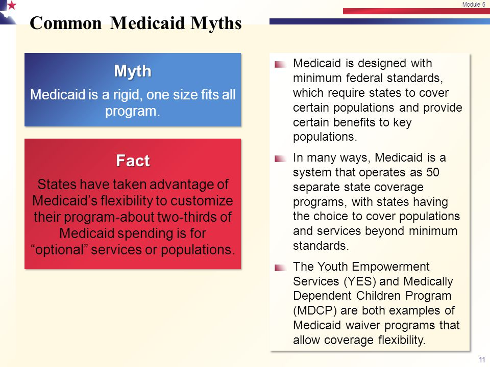 Medicaid is a rigid, one size fits all program.