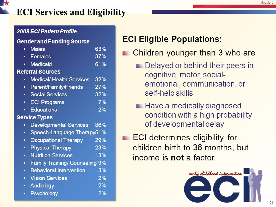 ECI Services and Eligibility