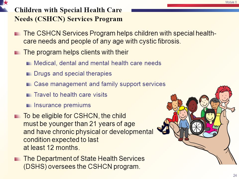Children with Special Health Care Needs (CSHCN) Services Program