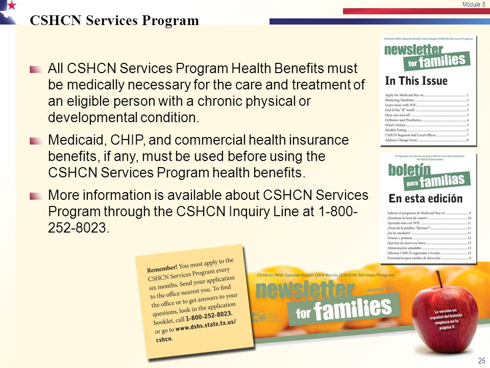 CSHCN Services Program
