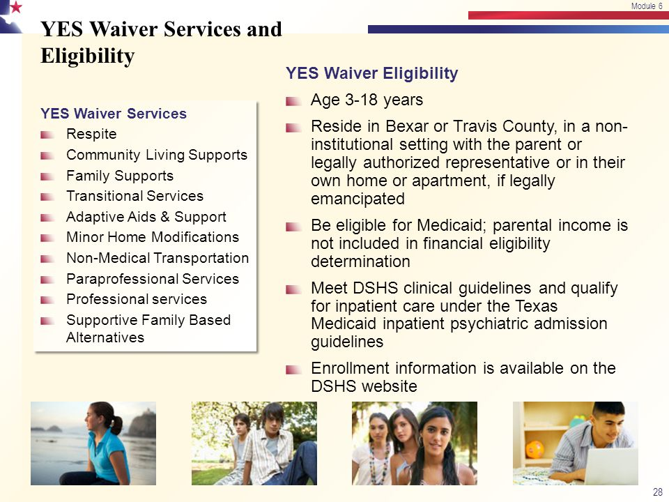 YES Waiver Services and Eligibility