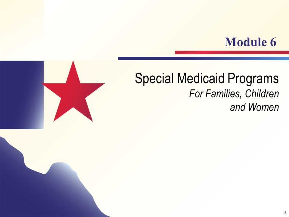 Special Medicaid Programs For Families, Children