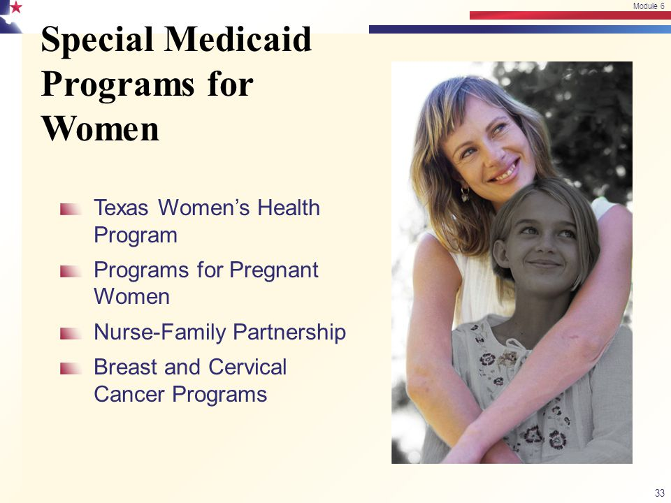 Special Medicaid Programs for Women