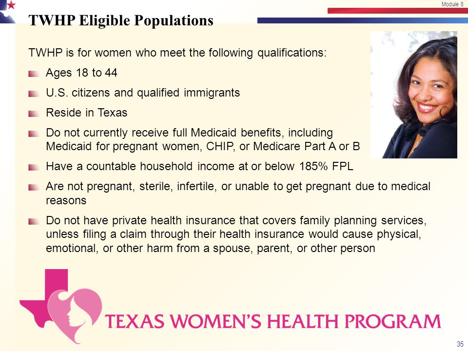 TWHP Eligible Populations