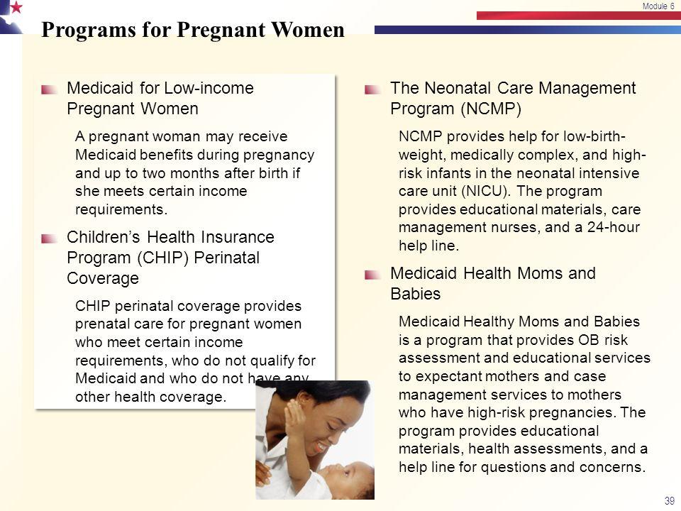 Programs for Pregnant Women