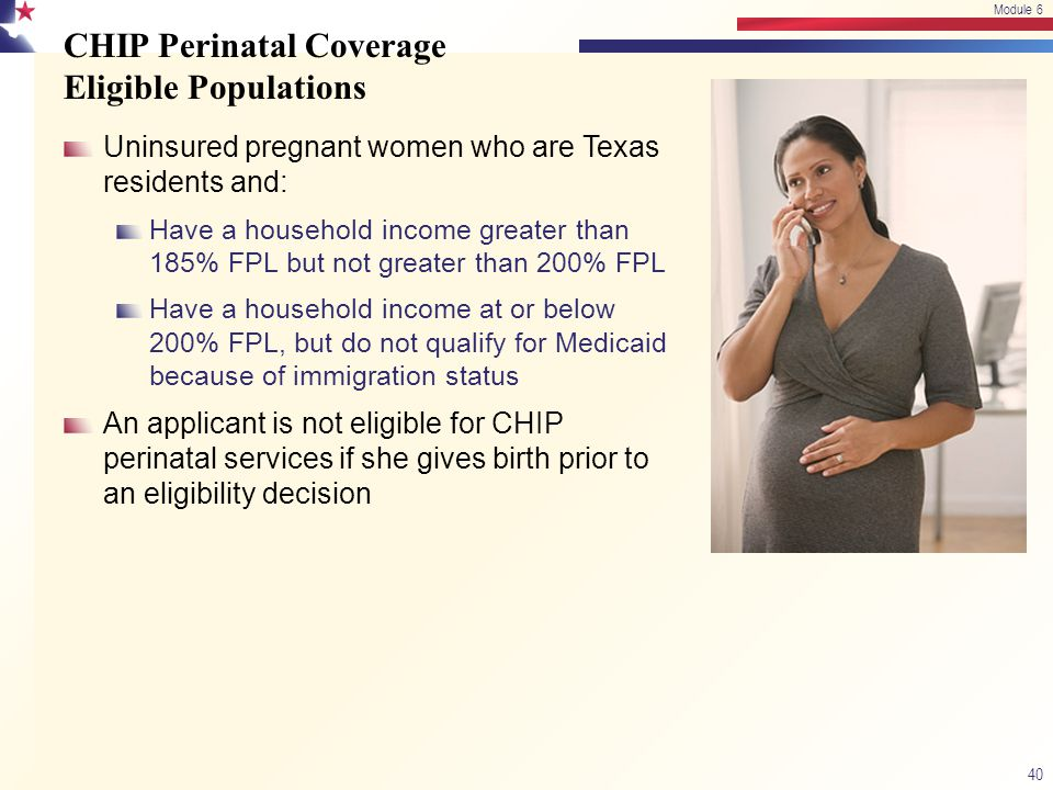 CHIP Perinatal Coverage Eligible Populations