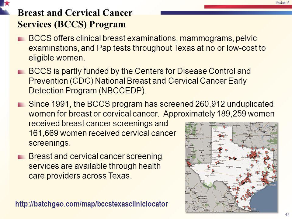 Breast and Cervical Cancer Services (BCCS) Program
