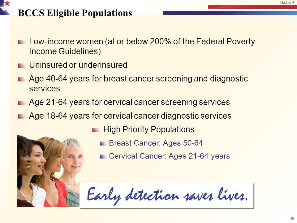 BCCS Eligible Populations