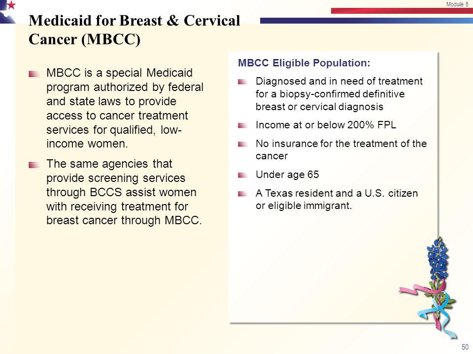 Medicaid for Breast & Cervical Cancer (MBCC)