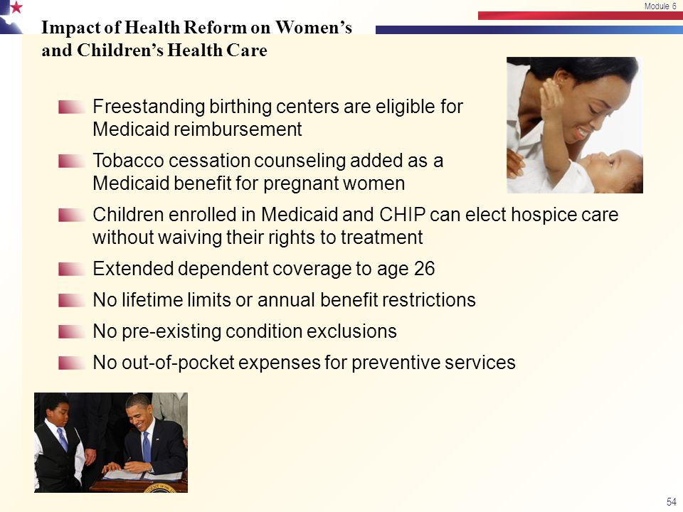 Impact of Health Reform on Women's and Children's Health Care