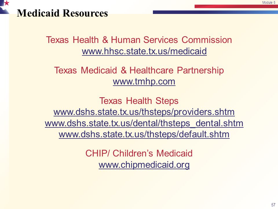Module 6 4/13/2017. Module 6. Medicaid Resources.