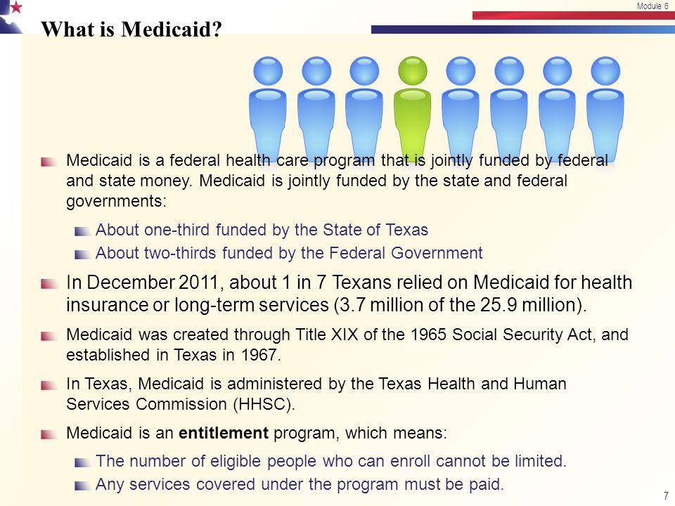 Module 6 4/13/2017. Module 6. What is Medicaid