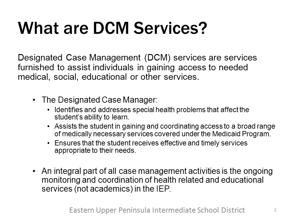 What are DCM Services