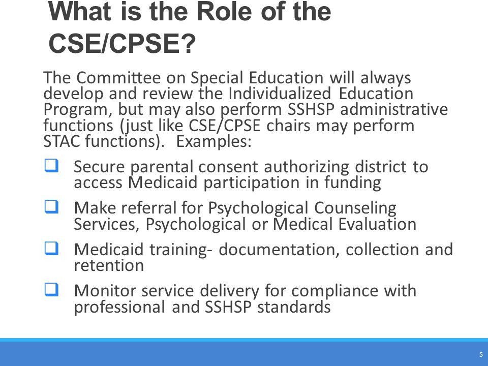 What is the Role of the CSE/CPSE