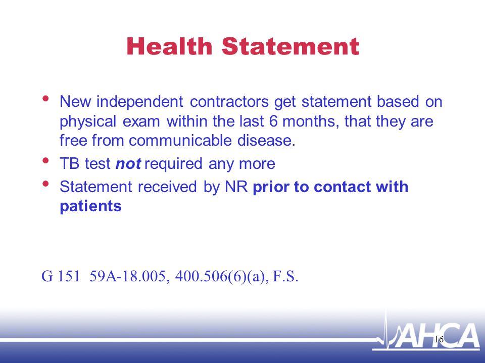 Health Statement