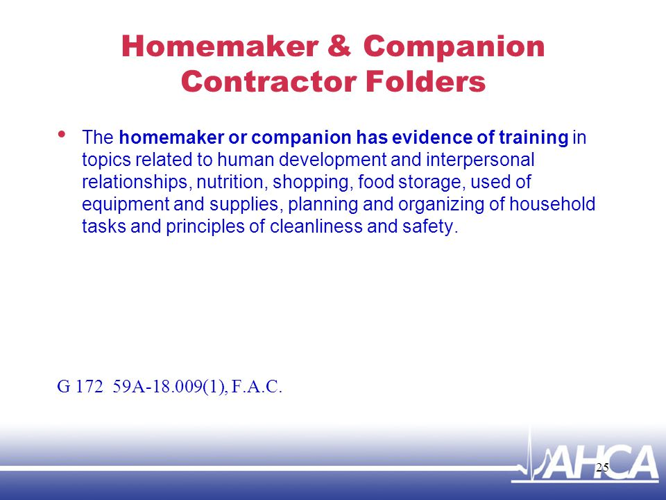 Homemaker & Companion Contractor Folders