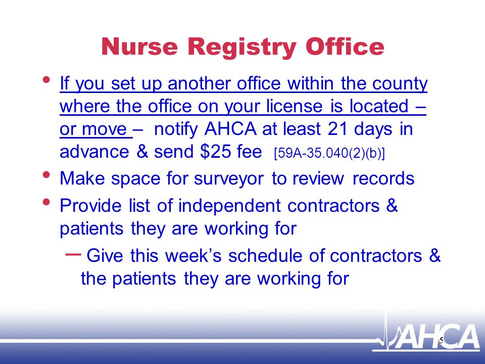 Nurse Registry Office
