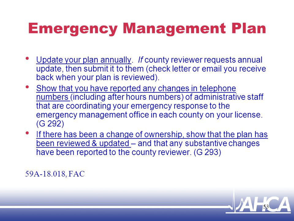 Emergency Management Plan