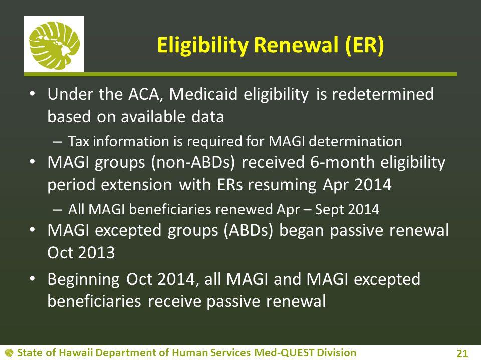 Eligibility Renewal (ER)
