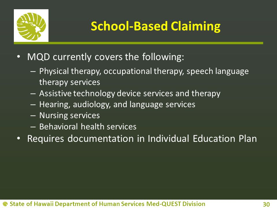 School-Based Claiming
