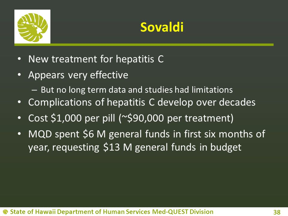Sovaldi New treatment for hepatitis C Appears very effective